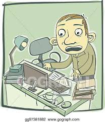 messy desk clipart. Perfect Desk Man With Messy Desk Intended Messy Desk Clipart