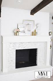 diy marble fireplace mantel makeover