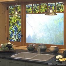 3d colorful g vine window static cling glass non