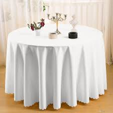 ... Cheap Round Tablecloths For Wedding Lovely Home Table Cloth 108 Round  Polyester Plain Tablecloth Cheap White ...