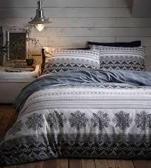prague natural flannelette duvet cover set super kingsize
