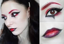 red and black makeup tutorial red eyebrown harley quinn arlequin makeup tutorial ger pictures joker makeup