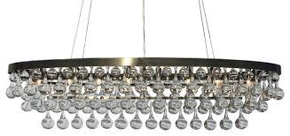 celeste 8 light oval antique brass glass drop chandelier