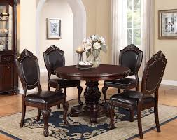 mille 48 cherry round dining table set wood tables in sets remodel 18