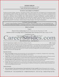 Resume Sample For Teacher Inspirational Science Teacher Resume ...