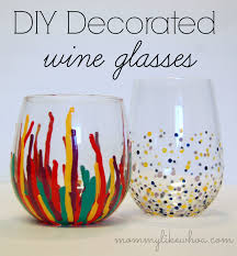 i have been wanting to do this diy decorated wine glasses tutorial for a long time it s been on my editorial calendar for months but it kept getting