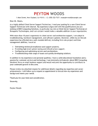 Cover Letter For A Server Leading Professional Client Server Technician Cover Letter Examples