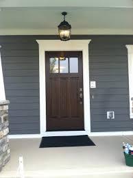 front doors woodWhite Hardwood Front Doors Wood With Trim Dark Blue Grey Siding