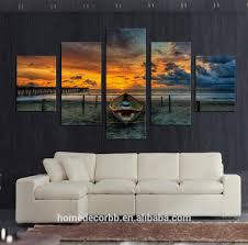 bedroom wall art canvas. Interesting Bedroom Cheap Wall Art Canvas Paintings5 Set Seascape Sunset View Print  Living Room Decoration  Buy Painting For RoomWall Art  Throughout Bedroom E
