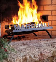 main image for american made steel personalized fireplace grate