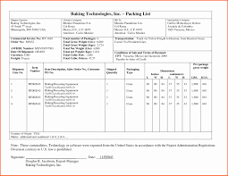 Sample Travel Packing List Export Packing List Eramco For Resume Templates How To Make In Tally