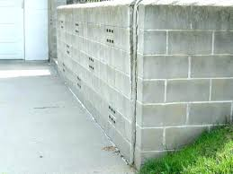 how to seal or repair s in concrete floors walls wall crumbling block