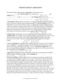 Website development agreement samples are legal documents that a client and a website development company signs before they could initiate the development process of the website. Free Website Design Agreement Free To Print Save Download