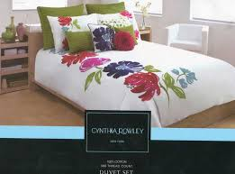 cynthia rowley bedding queen size luxury fl duvet cover set