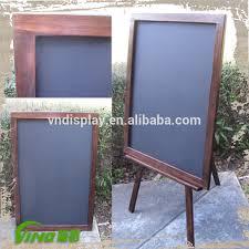 Menu Display Stands Restaurant Rustic Wooden Chalkboard Display Stand Outdoor Restaurant Wooden 100