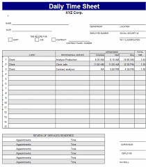 daily timesheet template free printable download daily time sheet