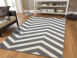 large 8x10 courtyard grey white zigzag area rug chevron rugs 5x7 indoor outdoor