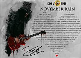 Guns N Roses November Rain Slash ...