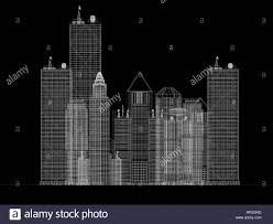 architecture blueprints skyscraper. Architecture Blueprint Of Corporate Buildings Over A Black Background Blueprints Skyscraper T