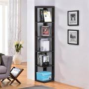 Yaheetech 5 Tier Wood Finish Wall Corner Bookshelf Display Rack