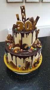 Two Tier Chocolate Drip 30th Birthday Cake Yuumm Birthday Cake