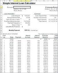 Amortized Schedule Excel Amortization Schedule Excel Template Loan Amortization Calculator
