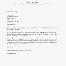 Letter To Interview Job Interview Thank You Letter Sample