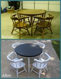 this kids table and chair set has been around for a