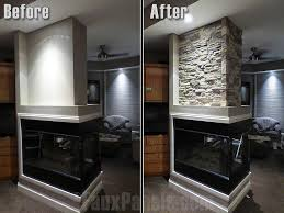 fireplace photos ideas with brick stone faux panels