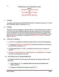 Memorandum Of Understanding Download Edit Fill Print