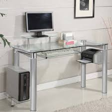 Clear office desk Glass Executive Office Innovex Clear Tempered Glass Modern Style Saturn Desk Brickseek Innovex Clear Tempered Glass Modern Style Saturn Desk Brickseek
