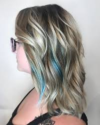 Subtle Blue Highlights 33 Cutest Peekaboo Highlights Youll Ever See In 2019