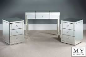mirrored bedside table. image is loading mirrored-dressing-table-console-and-2-x-toughened- mirrored bedside table o