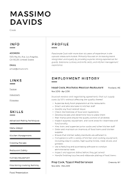 Modern Resume How Far Back Work History Cook Resume Writing Guide 12 Resume Templates 2019
