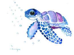 sea turtle wall art blue purple sea turtle original watercolor artwork blue blue purple sea turtle on lovely sea turtle wall art with sea turtle wall art blue purple sea turtle original watercolor