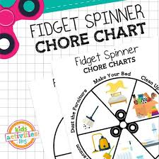 Fidget Spinner Chart Fidget Spinner Chore Chart Printable In 2019 Products