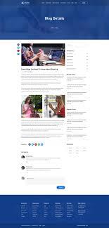 Prosite Web Design Blog Detail Page Templates Adobe Xd Psd Templates