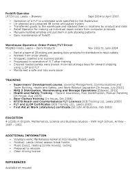 Warehouse Packer Resume Packer Job Description Resume Warehouse