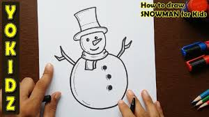 This is a new series that i'll be bringing to your over the next few. How To Draw Snowman For Kids Youtube