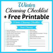 cleaning checklist winter cleaning checklist free printable a cultivated nest