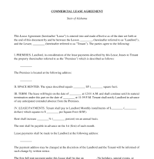 Standard Commercial Lease Agreement Commercial Lease Agreement Free Sample Template