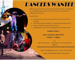 Modern Dance Resume Audition Ballet Creole Seeks Diverse Dancers Ballet Creole Tapa