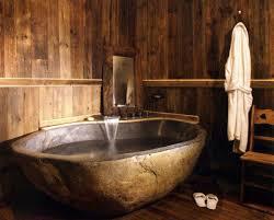 rustic stone bathroom designs. bathroom, rustic stone bathroom varnished wood cabinet with drawer shelve white wave bathliner river rock designs y