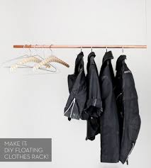 Rebar Coat Rack Make It A Simple DIY Floating Clothes Rack Curbly 87