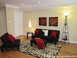 White And Red Living Room Black Red And White Condo Living Room Condo Living Room