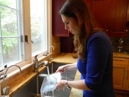 Kosher Cookbook Author Paula Shoyer Washes Dishes In Her Sink, Which Has  Two Sides,