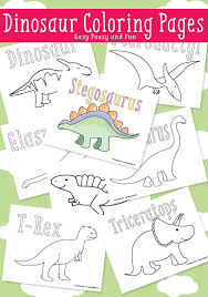 Small Picture Dinosaur Coloring Pages Easy Peasy and Fun