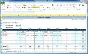 Weekly Work Schedule Template Printable Excel Ready Employee Simple