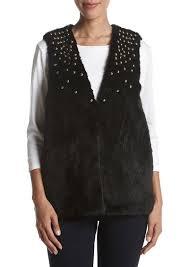 michael michael kors studded faux fur vest