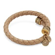 alex ani sand leather braided wrap